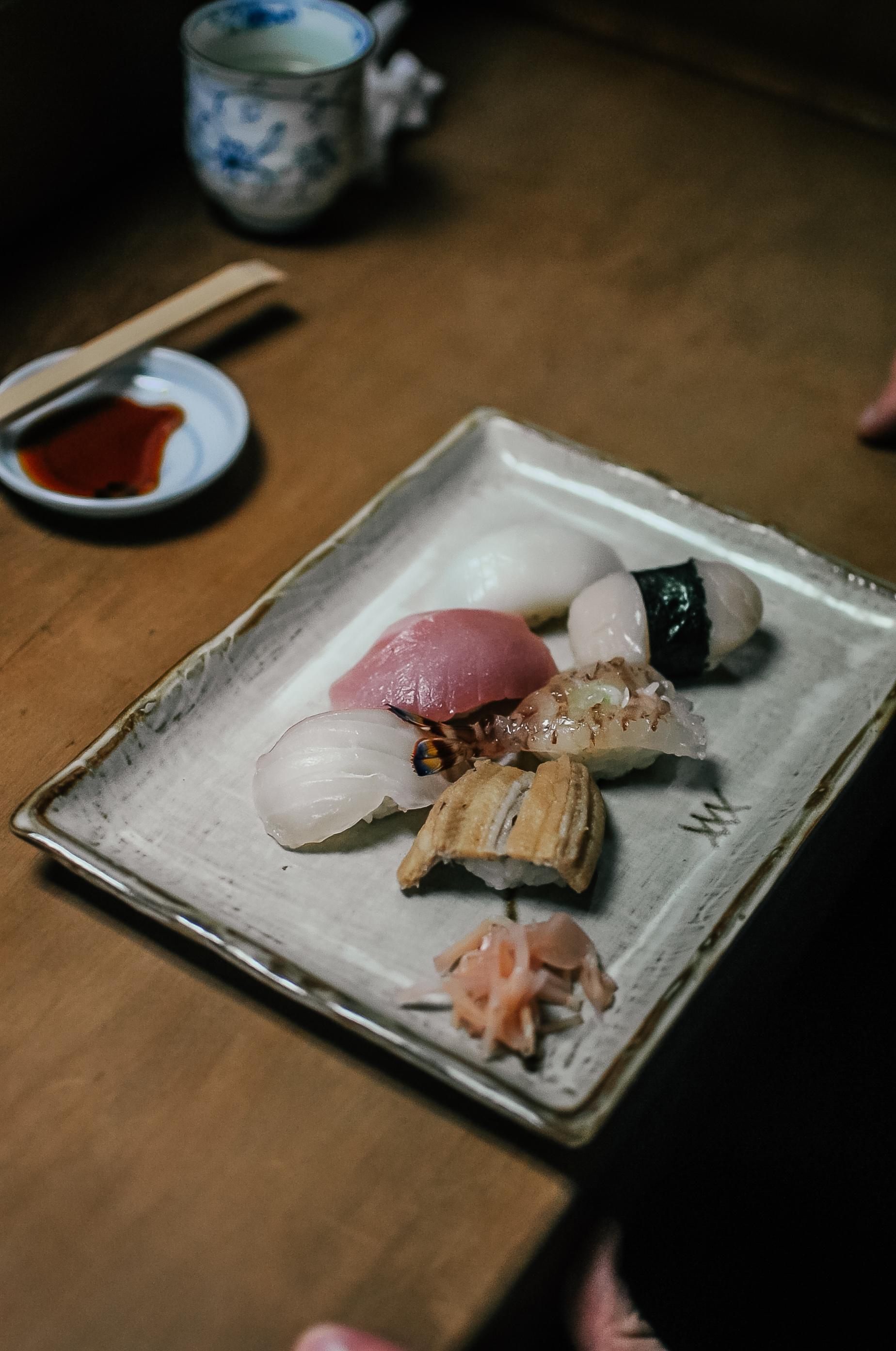 Sushi w Kioto